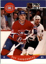 1990-91 PRO SET HOCKEY GUY CARBONNEAU CARD #146 MONTREAL CANADIENS NMT/MT-MINT