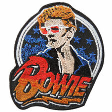 New David Bowie Logo Rock Embroidered Iron-On Patches Jacket T Shirt Vest #S090