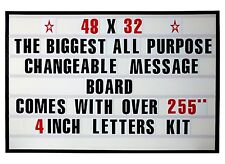 """4"""" BIG CHANGEABLE LETTER MESSAGE SIGN MENU PRICE MARQUEE READER BOARD"""