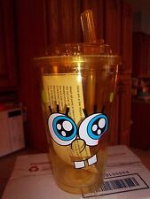 16 Oz Spongbob Squarepants Insulated Cup With Lid & Straw BPA Free