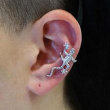 Gecko Ear Cuff Earring - 925 Sterling Silver - Left Ear Slide On Lizard 1 PC NEW