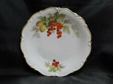"""Tirschenreuth Fruit, White, Scalloped: Salad Plate w/ Red Currants, 8 3/8"""""""
