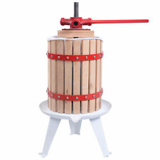 Fruit Wine Press Cider Apple Grape Crusher Juice Maker Tool Wood 1.6 Gallon NEW