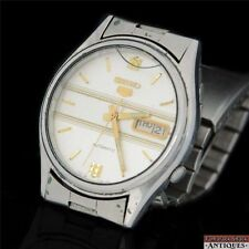 1972 Seiko 5 17J Automatic Day Date Mens SS Band 7009-3100 For Parts of Repair