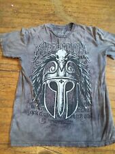 Men's Affliction Gray Short Sleeve Graphic Tee Size M