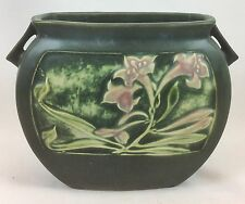 Roseville Pottery Rosecraft Panel Green Pillow Vase