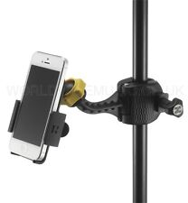 Hercules DG200B Fully adjustable iPhone/Smartphone Holder fits Microphone Stands