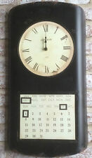 Clock Black Large Industrial Metal Calendar Magnetic Wall Hanging Distressed