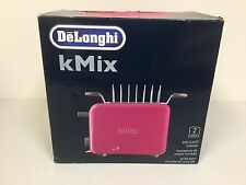 NEW Delonghi KMIX K Mix 2 Slot Slice Toaster - MAJENTA PINK - 900 Watts
