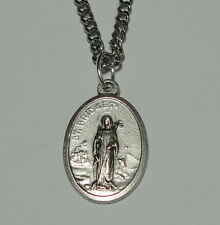 "St Bridget Holy Medal 24"" Chain Babies Poets Travelers Cattle & Chickens Sailors"