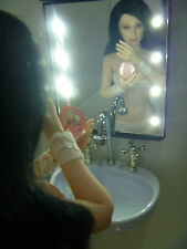 1/6 doll Scale Re-ment Miniature Black Model Bathroom Mirror Lightable!! Diorama