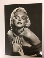 80s MARILYN MONROE POSTCARD 1952 glamour with hands to chest
