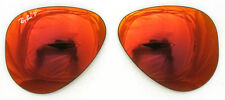 LENTI RICAMBIO RAY BAN 3025 58 AVIATOR RED MIRROR LENSES POLARIZED ROSSO SOLE