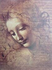 A3 LEONARDO DA VINCI poster HEAD of YOUNG WOMAN National Gallery exhibition