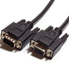0.5m VGA Male to Female Extension Cable - Video Monitor to PC/Laptop Lead 15 Pin