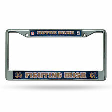 Notre Dame Fightin Irish Metal Chrome License Plate Frame Auto Truck Car NCAA