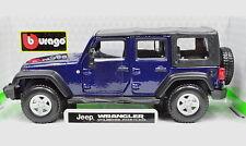 JEEP Wrangler Unlimited Rubicon Blu Scuro Scala 1:32 da BBURAGO