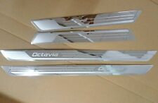 Stainless Steel door sill scuff plate For Skoda Octavia A5 A7 2007 - 2015
