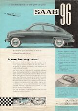 Saab 96 2-Stroke 1960-62 UK Market Launch Leaflet Sales Brochure