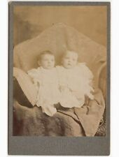 TWINS/CHILDREN OF WILLIAM BRELL BY MERCER ALLEGHENY, PA, VINTAGE CABINET PHOTO