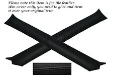 BLACK STITCH 2X A PILLAR COVERS FITS VAUXHALL OPEL HOLDEN ASTRA MK4 G CABRIO