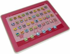 New Chad Valley Junior Touch Tablet with LED Lighting Affects - Pink 8 Melodies