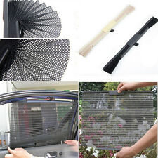 Retractable Car Curtain Side Window Shade Windshield Sunshade Shield Visor Black