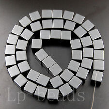 Hematite Gemstone Cube Square Beads Silver Gold 2mm 3mm 4mm 6mm 8mm 10mm 15.5""
