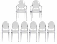 Ghost Dining Room Complete Furniture Set 6 Side chairs 2 Arm chairs