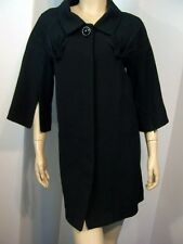 NWT $598 IN LOVE by CARLING Fan Pleated Black Zip Sleeve Dress Coat France T3 M