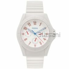 Fossil Original FS5223 Men's Poptastic Sport White Silicone Watch 44mm