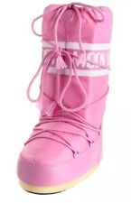 Tecnica Womens Moon Boot Pink Nylon Fashion Lace-Up Mid-Calf Boots 9-10.5