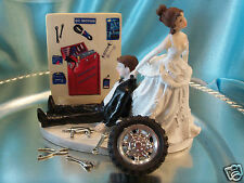 Grease Monkey Auto WEDDING CAKE TOPPER BOX TOOL MECHANIC Funny Grooms car tire