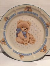 2 Tienshan Country Bear Stoneware Dinner Plates 10 1/2""