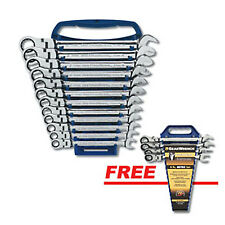 GearWrench 12 pc. Metric Flex Head Combination Ratcheting Set (Free 4 pc) 9901D