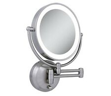 Zadro LEDW410 LED Lighted 10X-1X Round Wall Mounted Makeup Mirror