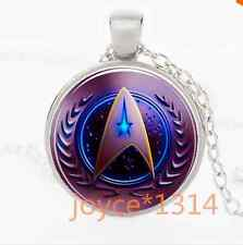 Star Trek Movie Steampunk Glass Silver necklace for men woman Jewelry  *XP-1083