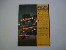 advertising Pubblicità 1988 CAMEL TROPHY e LAND ROVER