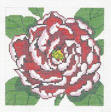 *New* LEE  Red Peony Flower Series handpainted Needlepoint 12 mesh Canvas