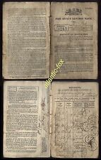 1864-1882 EARLY POST OFFICE SAVINGS BOOK issued at ALNWICK