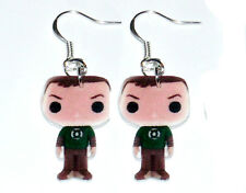 The Big Bang Theory Sheldon HANDMADE Plastic Charm Earrings Action Figure Style