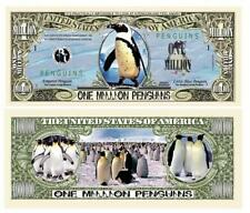 Penguins Novelty One Million Dollar Bill Antarctica South Pole
