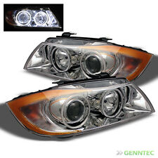 For 05-08 BMW E90 3-Seires 4 Dr Twin Halo Projector Headlights Lamp Head Lights