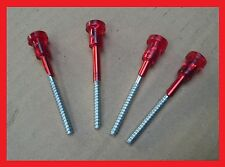 FIAT 126 plastica Luci RED HEAD LONG SCREW-Set di 4 (quattro)