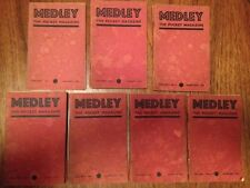 """21 x Issues Subscription Only """"Medley Magazine"""" 1934-1940 Very Rare!"""