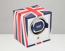 WOLF 462404 UK Flag Single Watch Winder Navigator Newly Released!