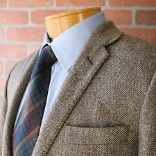 J Crew Ludlow Moon Tweed Brown Herringbone Sportcoat Blazer Jacket 100% Wool 36S