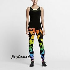 Nike Pro BeTrue Women's Training Tights XS Black Multi Color Gym Running New