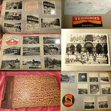 ALBUM PHOTOS VOYAGE ITALIE VENISE - SUISSE 1951 photo, Tickets..