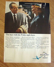 1967 United Air Lines Ad The Boys with the Friday Night Faces